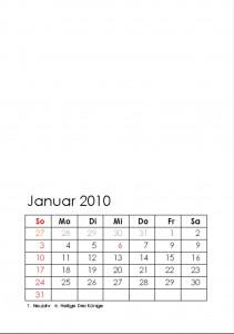 Kalender 2010 - Vorschau