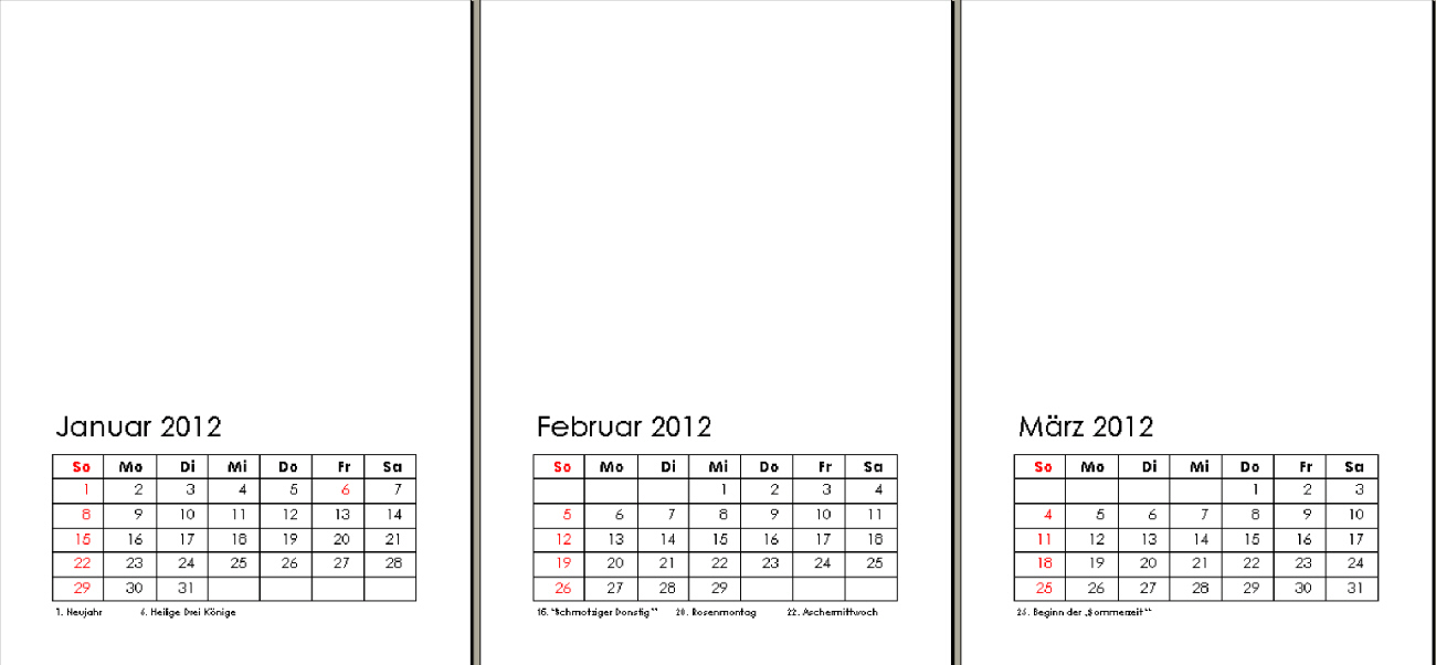 Kostenlose Vorlage Kalender 2012 – download | Supervision | Coaching ...